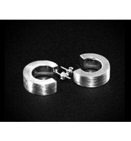 zilveren oorring:mat zilver : small & nice
