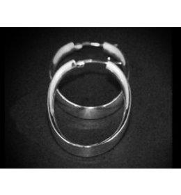 zilveren oorring: oval style