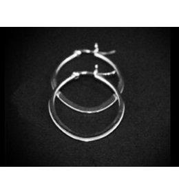 zilveren oorring: flat oval