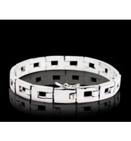 zilveren armband: square link