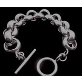 zilveren armband: heavy jasseron