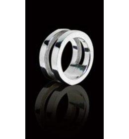 zilveren ring: forever together
