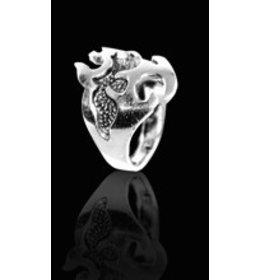 zilveren ring: tribal design