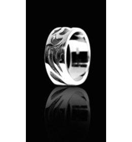 zilveren ring: like a wing
