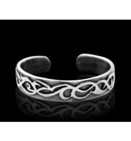 zilveren armband: tribal sea