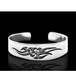 zilveren armband:tribal bird
