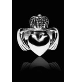 zilveren ring: gladdagh