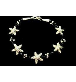 zilveren fantasiearmband: starfish