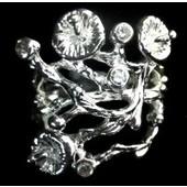 zilveren ring: little flower