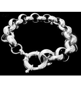 zilveren jasseron armband: nice