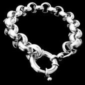 zilveren jasseron armband: shine