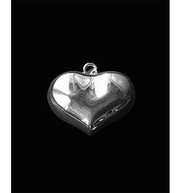 zilveren hanger: beautiful heart