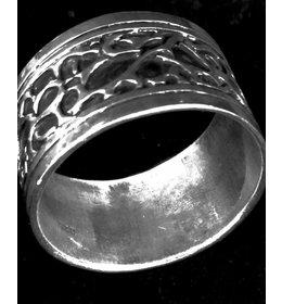 zilveren ring: silver spots