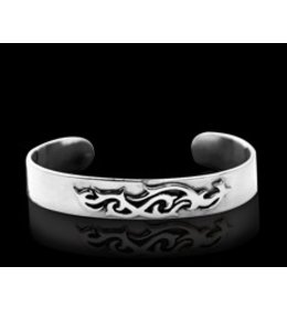 zilveren armband: silver tribal