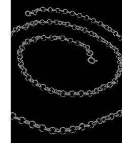 zilver collier: jasseron schakel