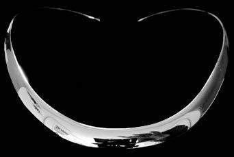 zilveren halsband