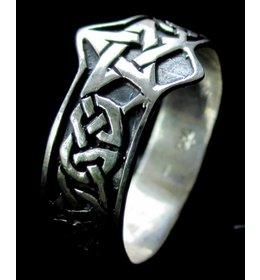 zilveren ring: celtic pentacle