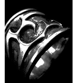 zilveren ring: tribal clouds