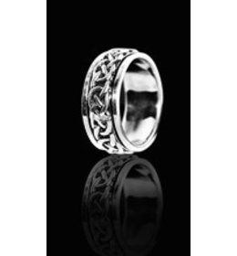 zilveren ring: spinning roundlines