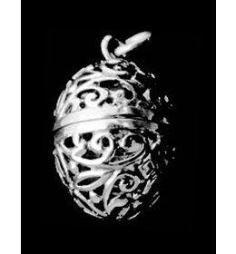 zilveren bedel: oval secret