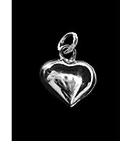 zilveren hanger: simple heart
