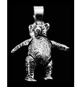 zilveren bedel: moving bear