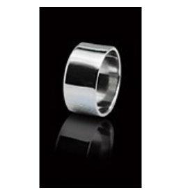 zilveren ring: plain band