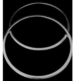 zilveren armband: solid plain