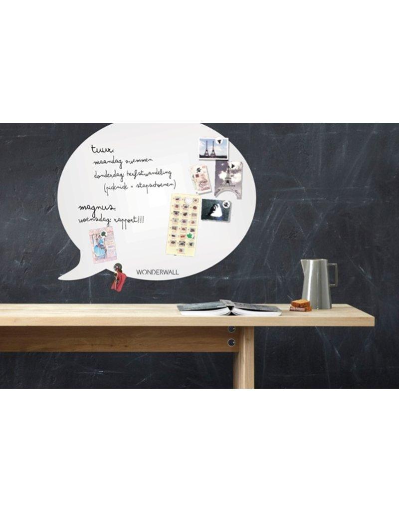 Wonderwall whiteboard tekstballon beschrijfbaar en magnetisch