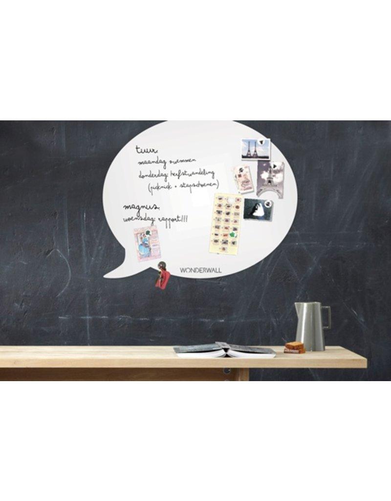 Wonderwall whiteboard en magneetbord tekstballon 50x 60 cm