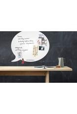 Wonderwall whiteboard tekstballon, met veel ruimte voor te schrijven en foto's/ briefjes/...omhoog te hangen!