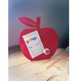 Wonderwall Appel rood magneetbord -desktop model-