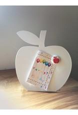 Wonderwall  korting   witte appel magneetbord + whiteboard -desktop model-