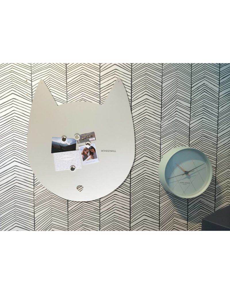 Wonderwall Large 67 x 80 cm kat magneetbord off white in matte structuur