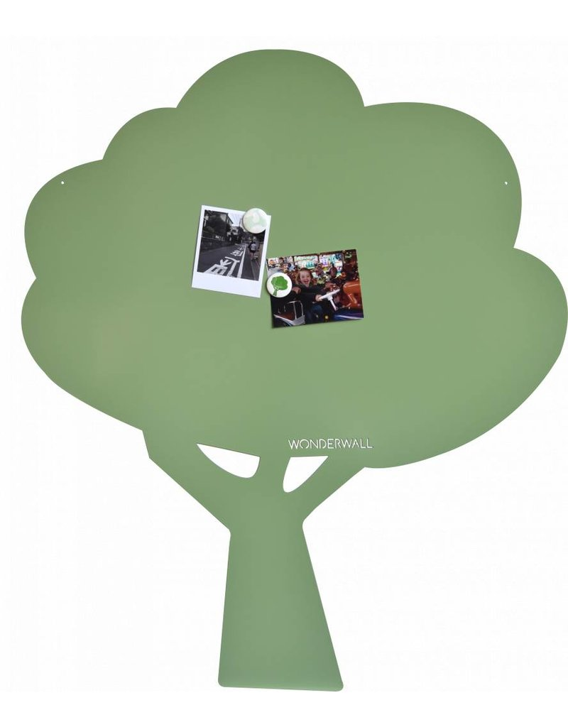 FAB5_Wonderwall 95 X 80 CM Magnetic board Tree Exclusive Kamakura Green- limited edition
