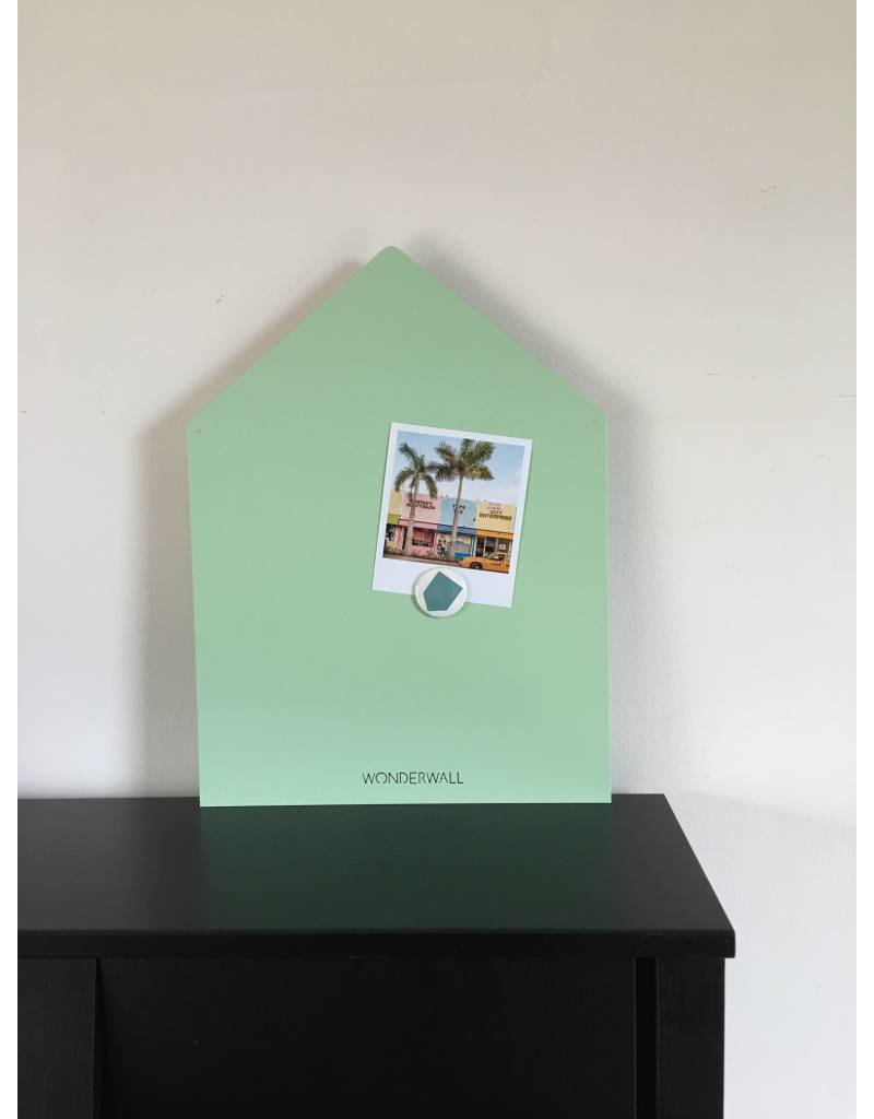 LIMITED EXCLUSIVE Magneetbord huis medium  mat mint