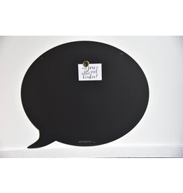Wonderwall Magneetbord TEKSTBALLON LARGE-  BLACK- Special christmas collection
