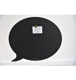 Wonderwall Magneetbord TEKSTBALLON LARGE-  BLACK