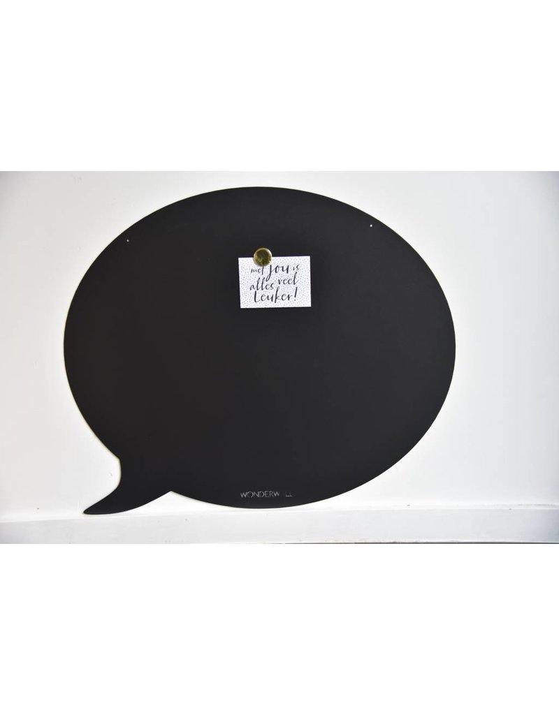 Wonderwall    Magneetbord tekstballon groen -67 x80 cm