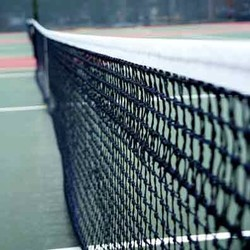Handgeknoopt tennisnet - 4 dubbele topmazen