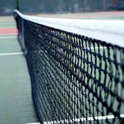 Handgeknoopt tennisnet - 6 dubbele topmazen
