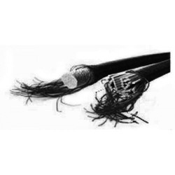 Trapezekoord 6 mm per meter 6mm zwart