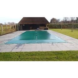 Zwembad afdekzeil grijs voor een bad van 4x8 meter