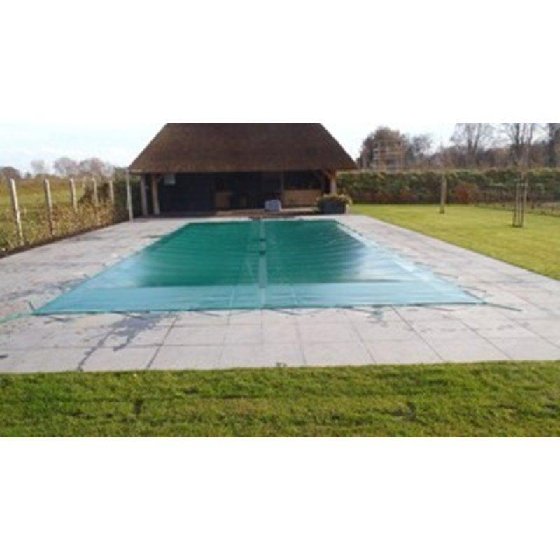 Zwembad afdekzeil PVC kleur grijs voor een bad van 5x10 meter