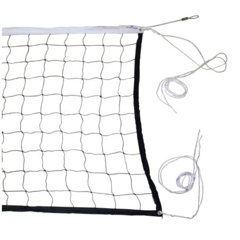 Volleybalnet voor recreatief gebruik, inclusief staaldraad 100 mm maas
