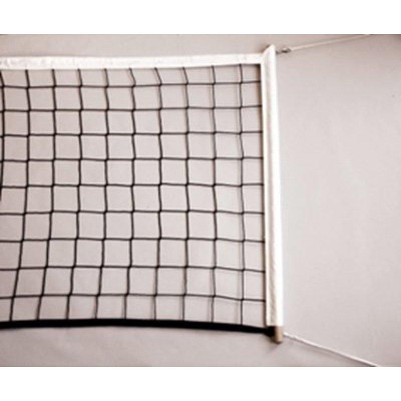Volleybalnet voor recreatief gebruik, inclusief stokken 100 mm maas