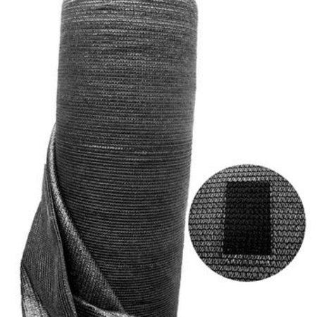 Windbreekgaas / Winddoek zwart 1.00x50 mtr