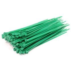 Universeel Tie-Wrap kabelbinder 4.80 * 300 mm. 100 stuks groen