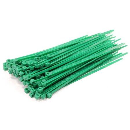 Universeel 10 pack Tie-Wrap, eenvoudige en snelle kabelbinder. 100 stuks per verpakking - groen