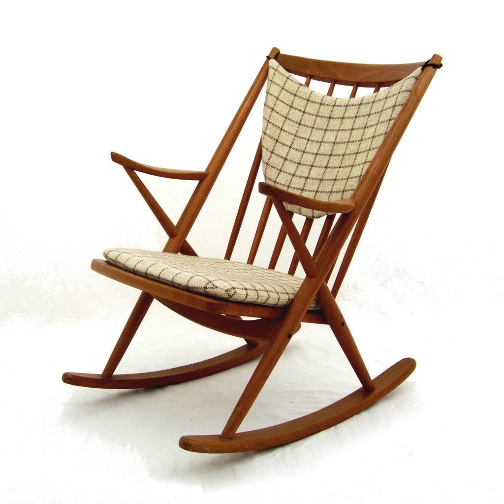 Bramin rocking chair / schommelstoel ontworpen door Frank Reenskaug ...